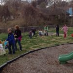 Children on Easter Hunt WUMC 2016